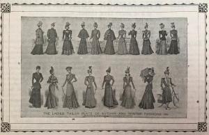 Late Victorian ladies fashion
